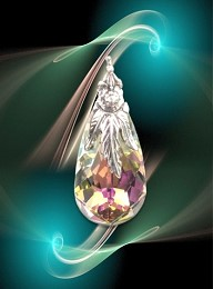 "Vital Force pendant ""Teardrop"""